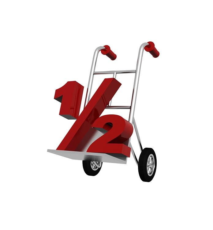 half-on-cart
